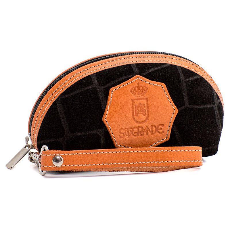 Ofeliat-Isabel-Wristlet-Black-Crocodile-Leather-Handmade-Spain