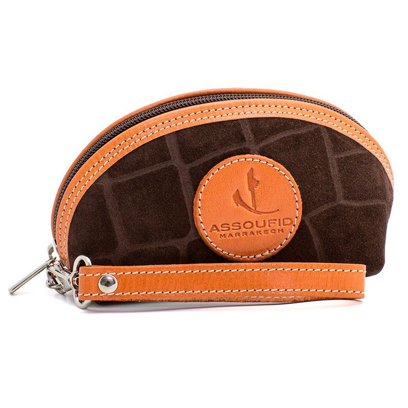 Ofeliat-Isabel-Wristlet-Dark-Brown-Crocodile-Leather-Handmade-Spain
