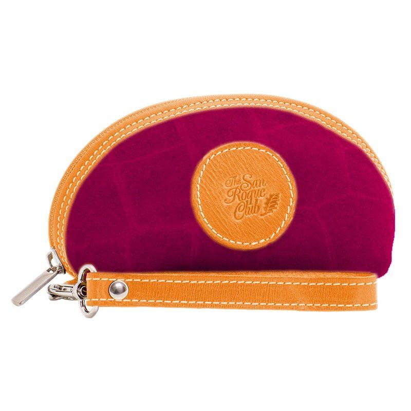 Ofeliat-Isabel-Wristlet-Purple-Crocodile-Leather-Handmade-Spain