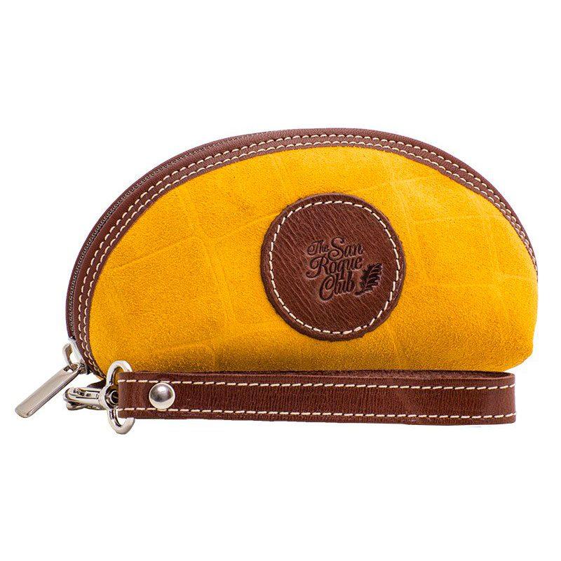 Ofeliat-Isabel-Wristlet-Yellow-Crocodile-Leather-Handmade-Spain