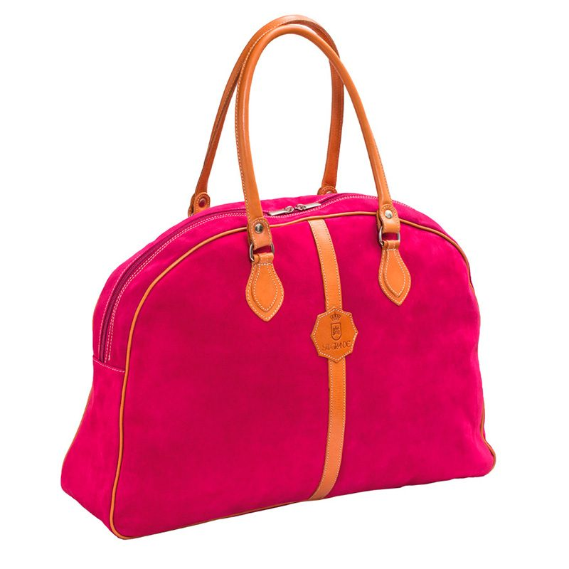 Ofeliat-Laura-Ladies-Travel-Bag-Fucsia-Suede-Leather-Handmade-Spain