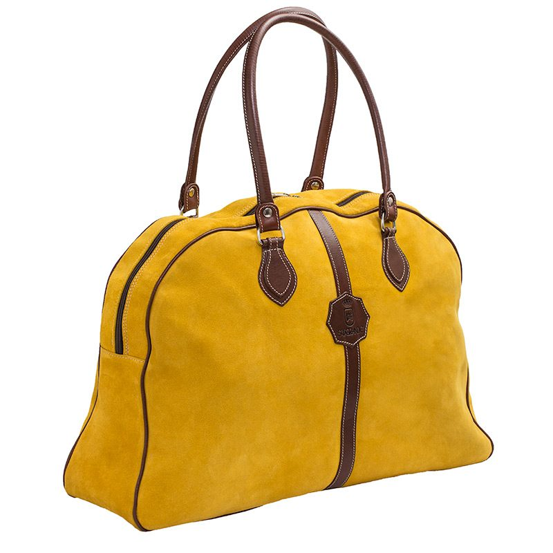 Ofeliat-Laura-Ladies-Travel-Bag-Yellow-Suede-Leather-Handmade-Spain