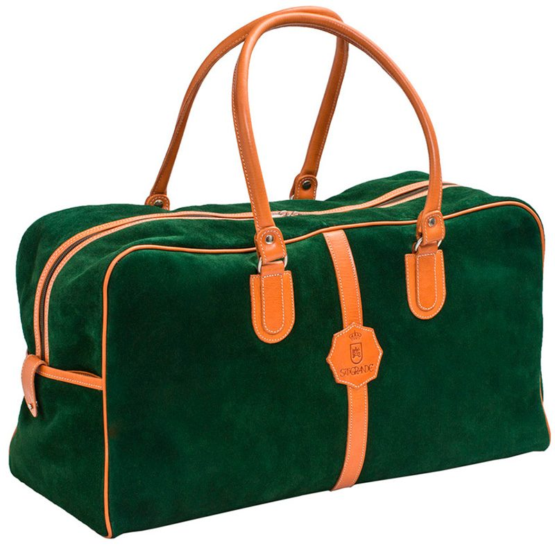 Ofeliat-Malaga-Travel-Bag-Dark-Green-Suede-Leather-Handmade-Spain