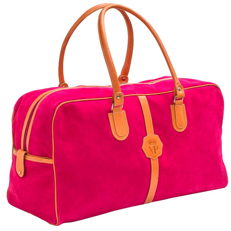 Ofeliat-Malaga-Travel-Bag-Fucsia-Suede-Leather-Handmade-Spain
