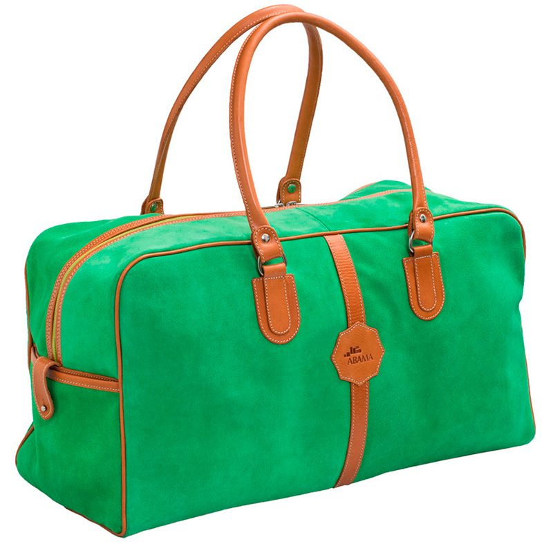 Ofeliat-Malaga-Travel-Bag-Green-Suede-Leather-Handmade-Spain