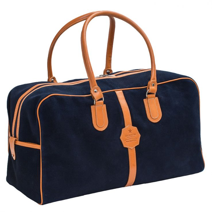 Ofeliat-Malaga-Travel-Bag-Navy-Suede-Leather-Handmade-Spain