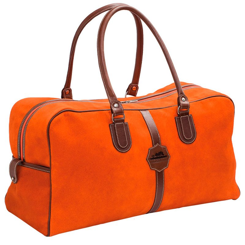 Ofeliat-Malaga-Travel-Bag-Orange-Suede-Leather-Handmade-Spain