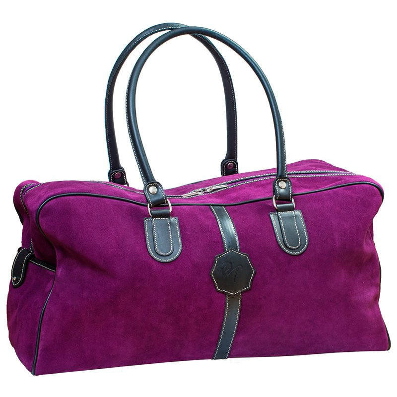 Ofeliat-Malaga-Travel-Bag-Purple-Suede-Leather-Handmade-Spain