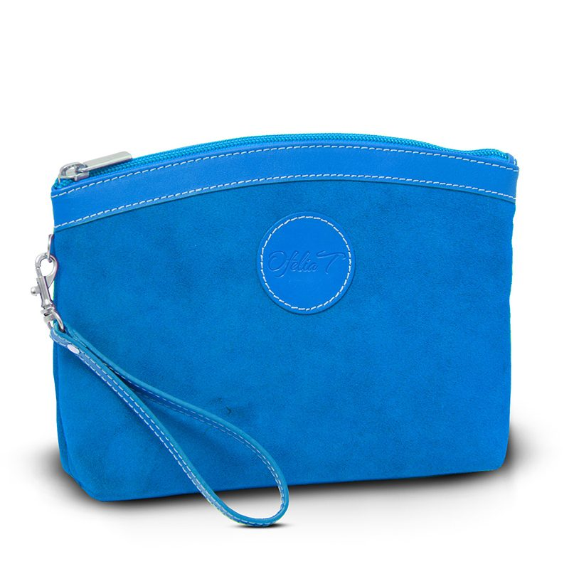 Ofeliat-Teresa-Zip-Cluth-Royal-Blue-Tone-Suede-Leather-Handmade-Spain