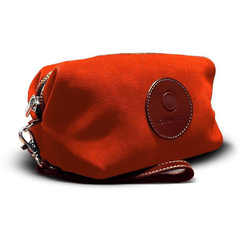 OfeliaT-Almeria-wristlet-Orange-leather-handmade-spain