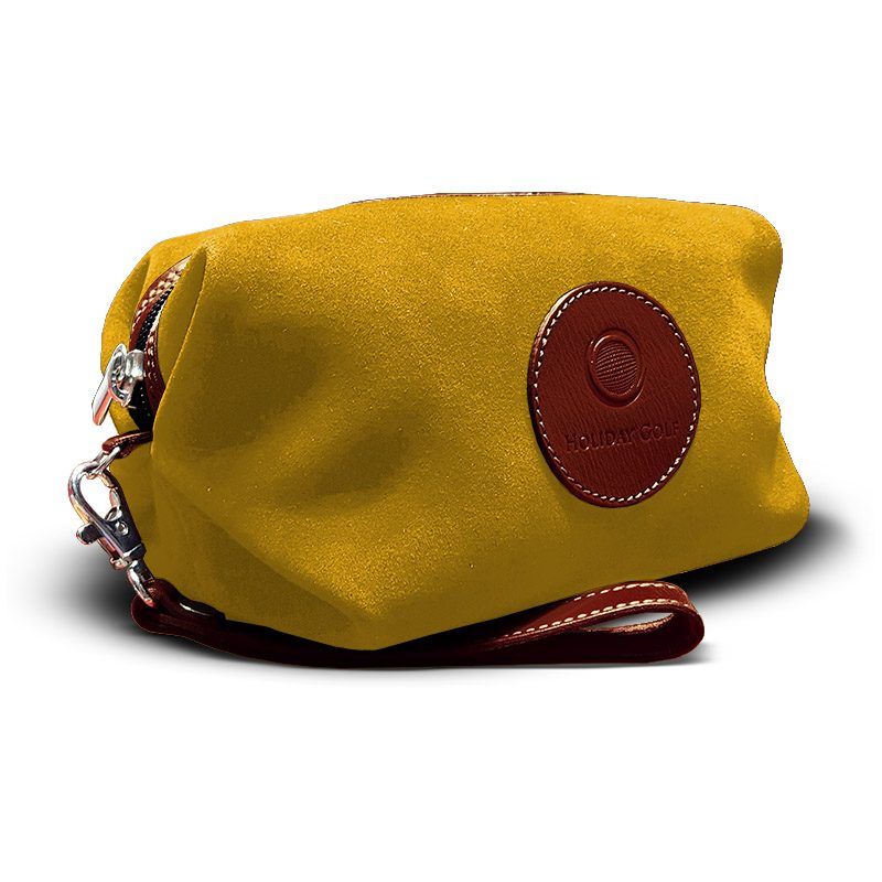 OfeliaT-Almeria-wristlet-Yellow-leather-handmade-spain