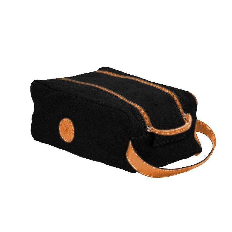 Ofelia T Barcelona Shoe Bag Black Leather Handmade Spain