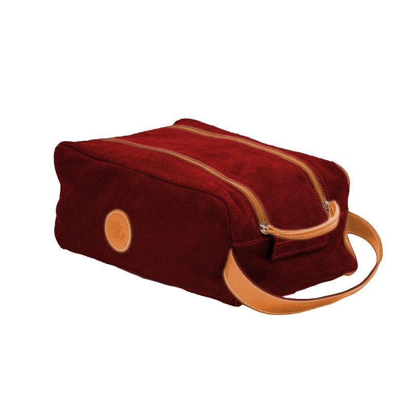 Ofelia T Barcelona Shoe Bag Bordeaux Leather Handmade Spain