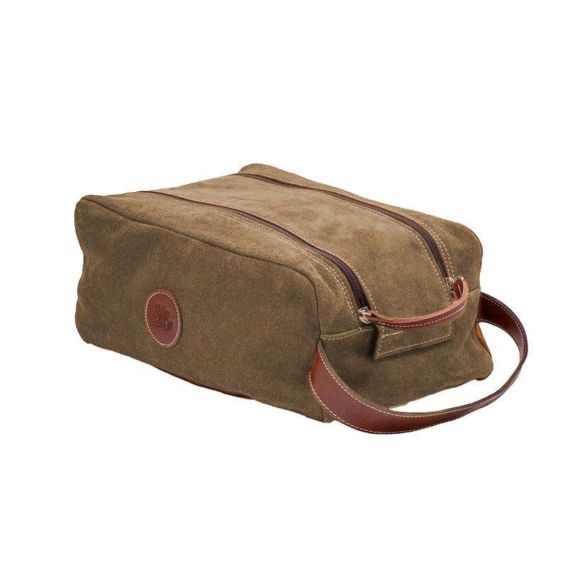 Ofelia T Barcelona Shoe Bag Brown Leather Handmade Spain