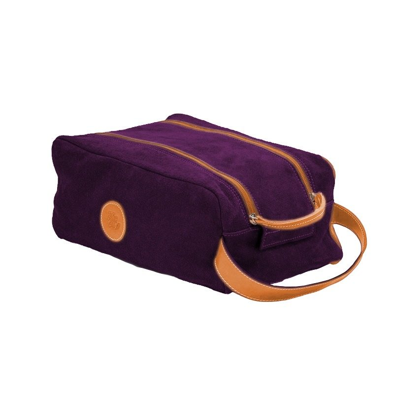 Ofeliat T Barcelona Shoe Bag Purple Leather Handmade Spain