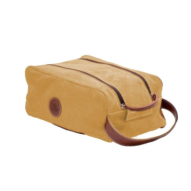 Ofelia T Barcelona Shoe Bag Sand Leather Handmade Spain