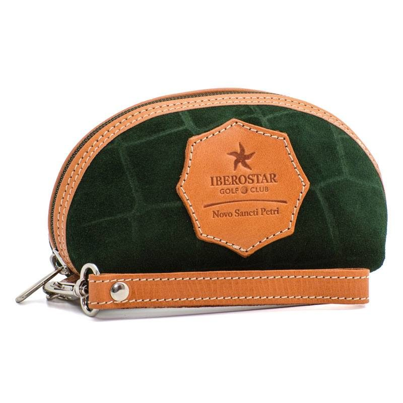 Ofelia T Isabel Wristlet Dark Green Crocodile Leather Handmade Spain